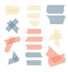 Colorful adhesive tape masking pieces set vector image