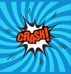 crash comic template vector image