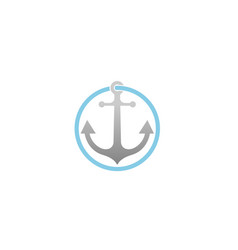 Creative anchor circle logo vector