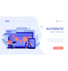 cross platform bug founding concept landing page vector image