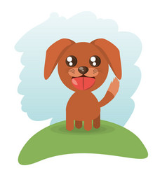 cute doggy animal wildlife vector image