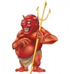 Devil pitchfork vector