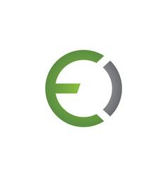 E letter logo business template vector