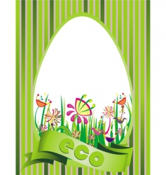 eco design illustration vector image