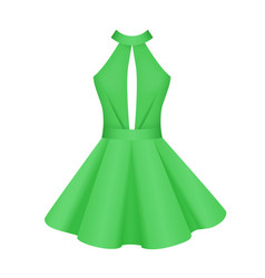 Elegant women cocktail prom green dress vector