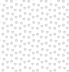 Favorite stars and hearts seamless pattern vector