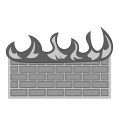 Fire protection of files icon vector
