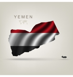 Flag of Yemen as a country vector image