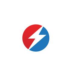 Flash thunderbolt template icon design vector