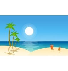 Flat landscape beach collection vector