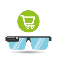 Glasses technology online shop application media vector