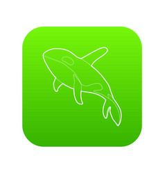 grampus icon green vector image