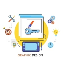 Graphic design vector image