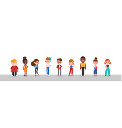 group diverse people character vector image