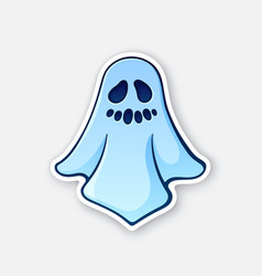 Halloween scary ghost with evil smile vector