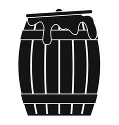 Honey barrel icon simple style vector