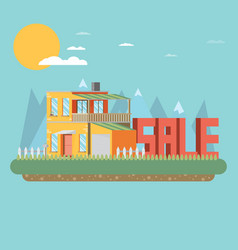 house for sale flat vector image