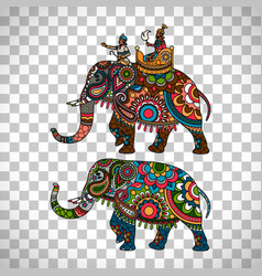 indian elephant transparent background vector image