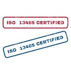 ISO 13485 Certified Rubber Stamps vector