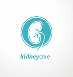 kidney care medical logo design idea vector image