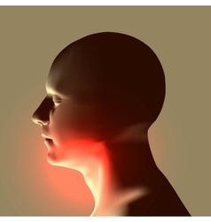 Laryngitis Human throat vector image