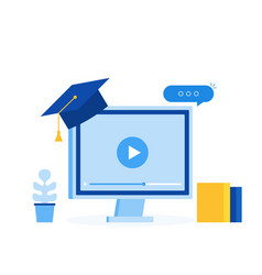 learing online concept elearning education vector image