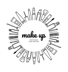 make up artists logotype different types of vector image