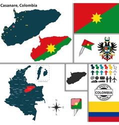 Map of Casanare vector image