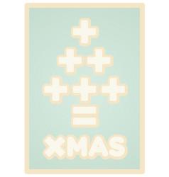 Math christmas card vector