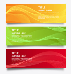 modern abstract banner with wave background vector image