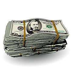 Money Bundle 50 vector image