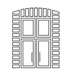 Outlined doors vector