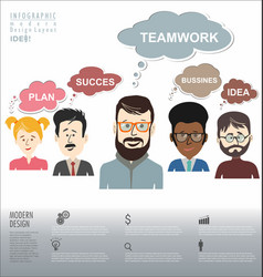 people with speech bubbles teamwork banner vector image