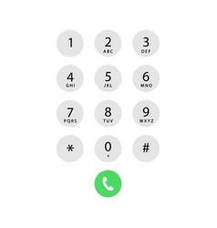 phone call screen vector image