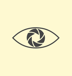 Photography logo design eye vector