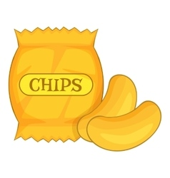Potato chips icon cartoon style vector