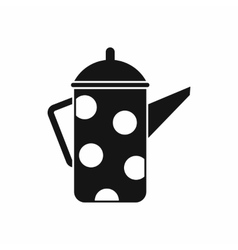 Retro coffee kettle icon simple style vector