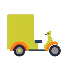 Rickshaw bike isolated vector