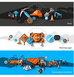 Road Repair Banners vector image