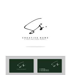 S ss initial logo signature handwriting concept vector