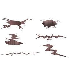 Set of cartoon cracks vector