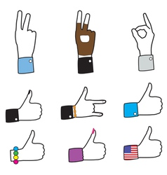 Set of different hands - like signs vector