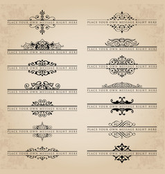 Set of ornate headpieces vector