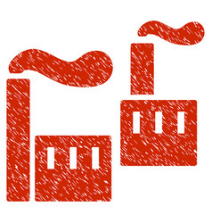 Smoking industry grunge icon vector