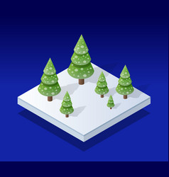 snow covered isometric vector image