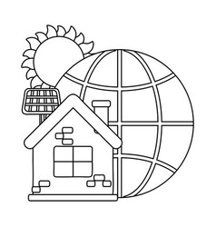 sphere global communication and eco design vector image