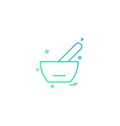 spoon bowl medicine soupe icon desige vector image