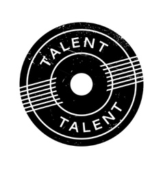 Talent rubber stamp vector