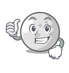 Thumbs up golf ball character cartoon vector