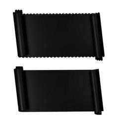 two elegance horizontal banners black ribbons vector image